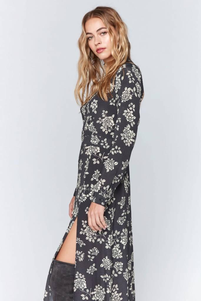 Flynn Skye Flynn Skye Cedar Maxi Dress Onyx Blooms