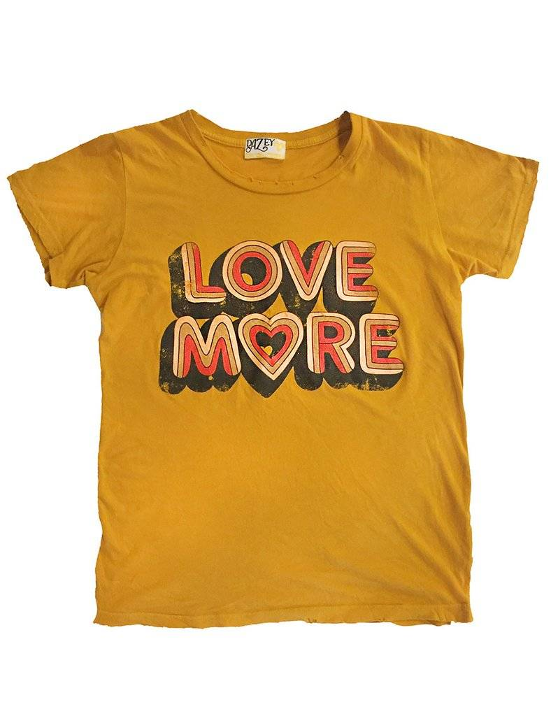 Dazey LA Dazey La Love More Tee in Mustard