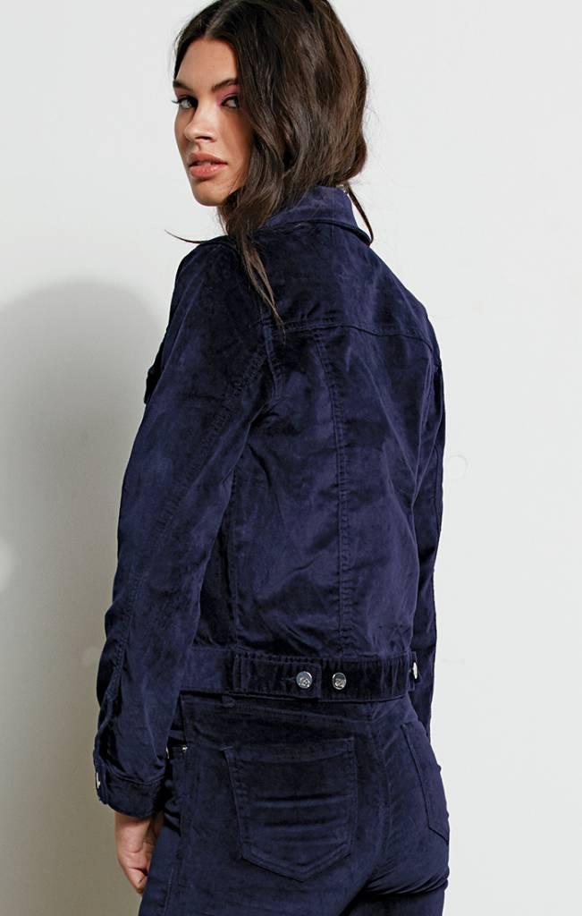 Stone Row Stone Row GMJ Purple Velvet Jacket