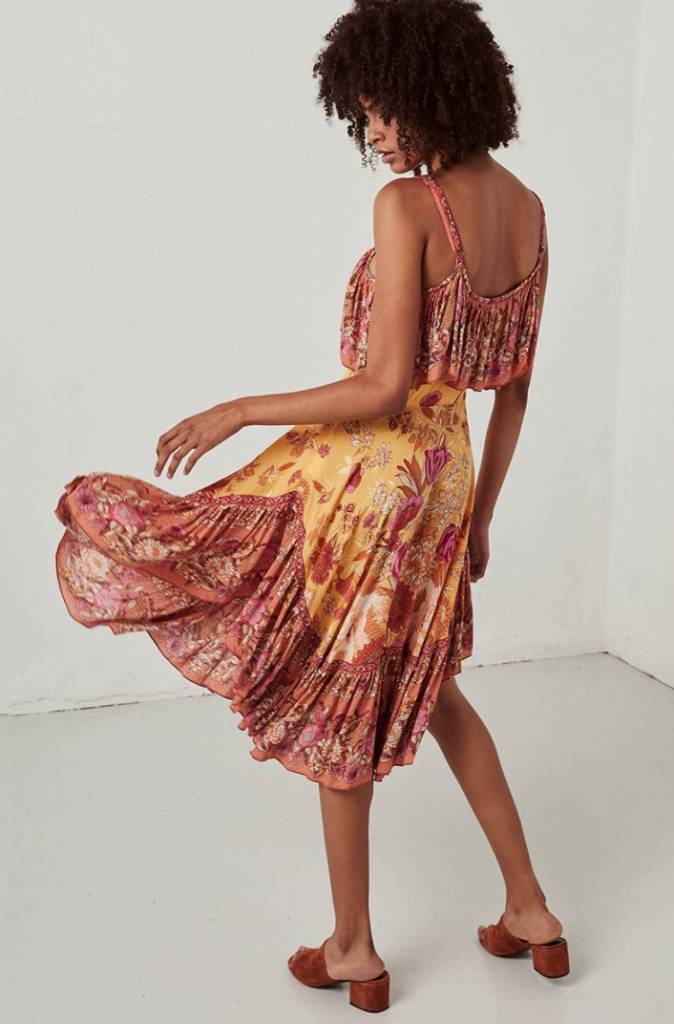 Spell and the Gypsy Collective Spell Siren Song Strappy Dress - Marigold