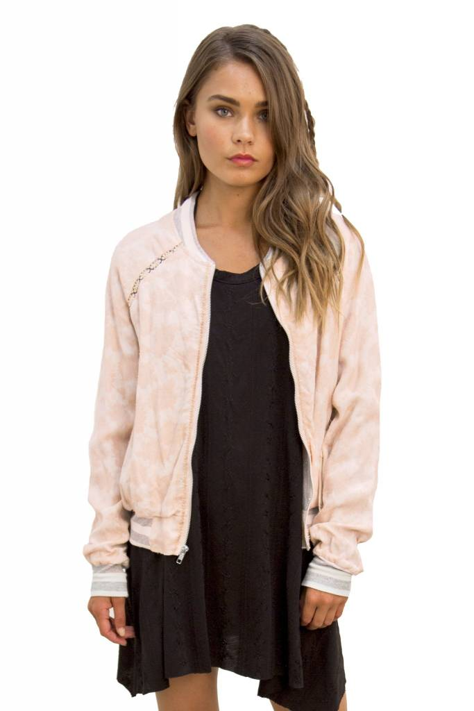 Saltwater Luxe Saltwater Luxe Crossfire Bomber Jacquard