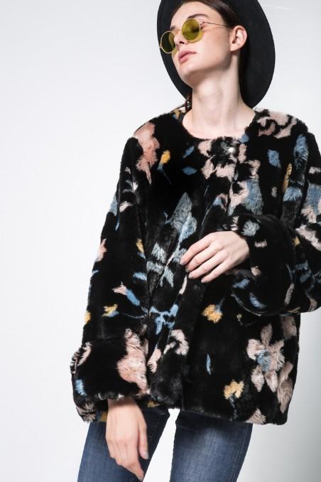 Nidodileda Nidodileda Candie Floral Faux Fur Jacket