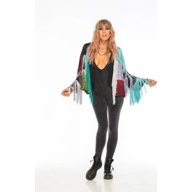 Indah Indah Marquee Fringe Jacket in Party Mix