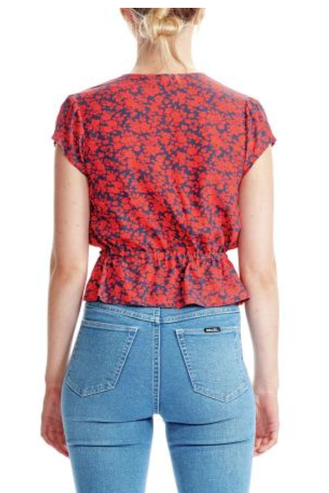 Rollas Rollas Lula Blouse in Navy Blossom