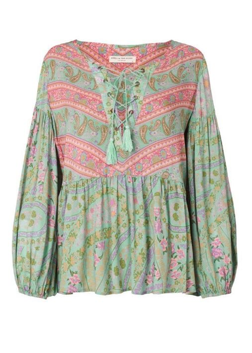 Spell and the Gypsy Collective Spell City Lights Blouse - Sage