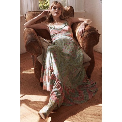 Spell City Lights Strappy Maxi - Sage