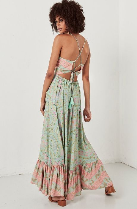 Spell and the Gypsy Collective Spell City Lights Strappy Maxi - Sage