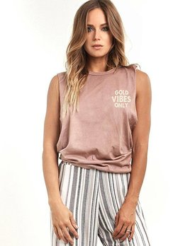 Saltwater Luxe Saltwater Luxe Gold Vibes Tank Rose