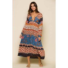 Raga LA Raga Sun Daze Plunge Midi Dress