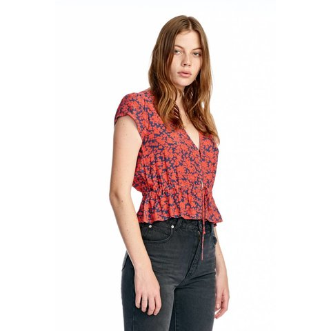 Rollas Lula Blouse in Navy Blossom
