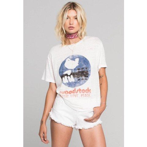 Daydreamer Woodstock Poster Burnout Boyfriend Tee