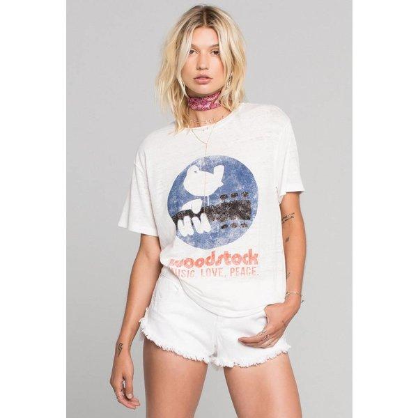 Daydreamer Daydreamer Woodstock Poster Burnout Boyfriend Tee