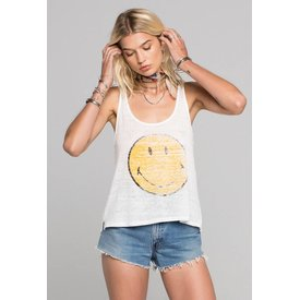 Daydreamer Daydreamer Smiley Burnout Scoop Tank