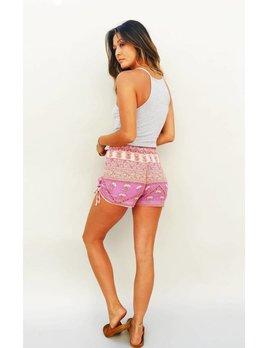 Blue Boheme Bella Shorts Pink