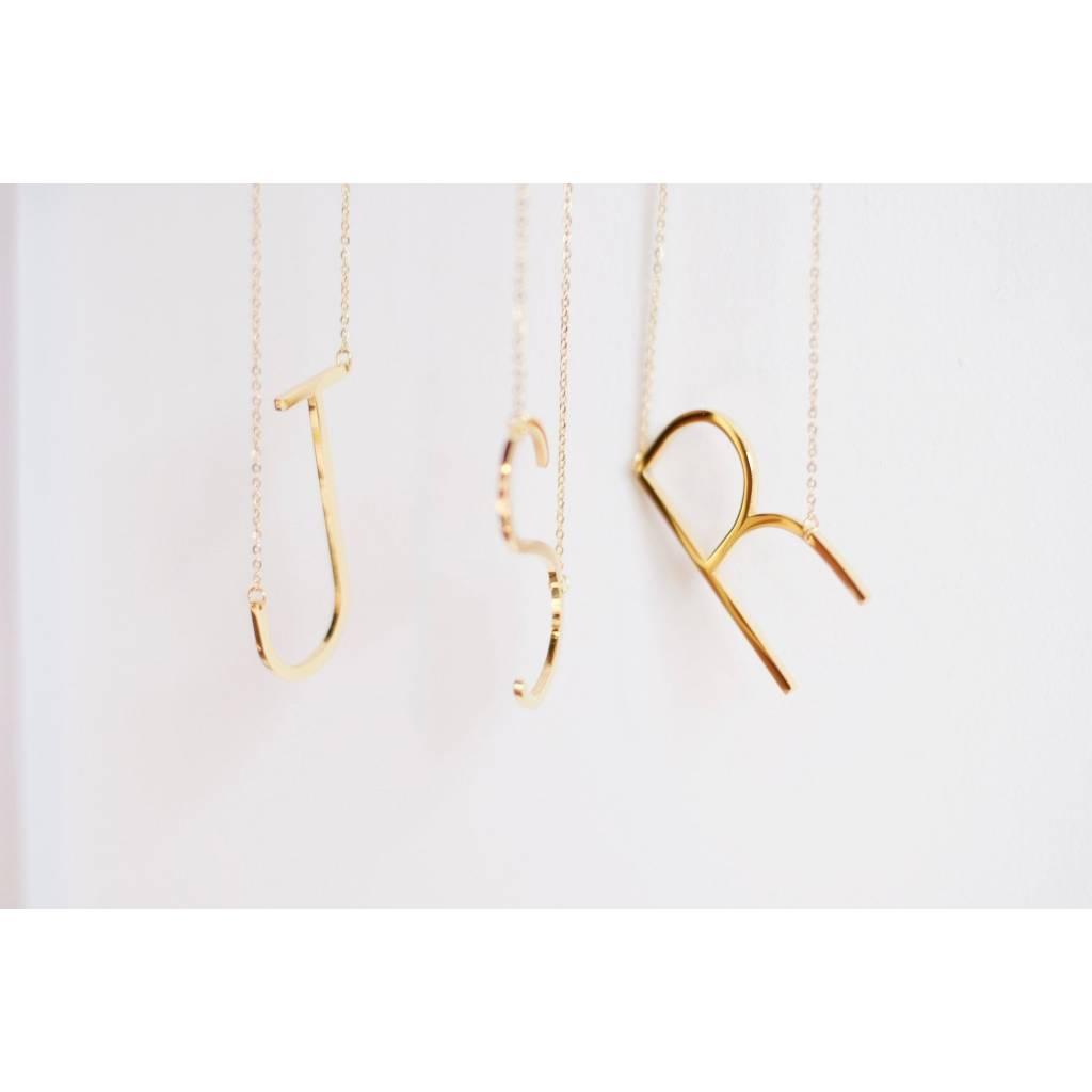 Jonesy Wood Jonesy Wood Gold Initial Necklaces