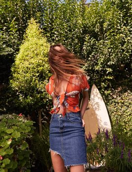 Sage the Label Sage the Label Summer Friends Blouse Blood Orange