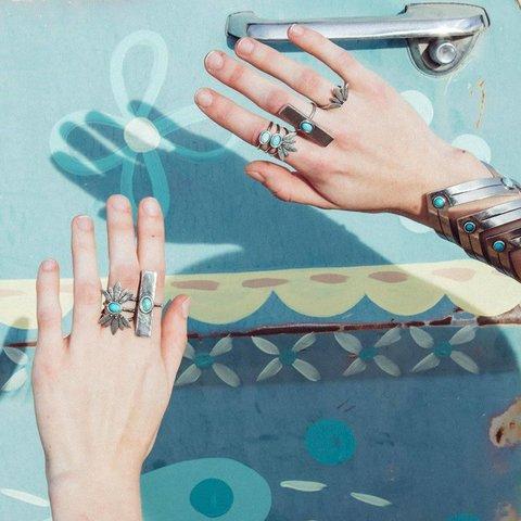 Desert Lotus Ring Set Size 7