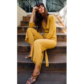 Novella Royale Clementine Jumpsuit Golden Yellow