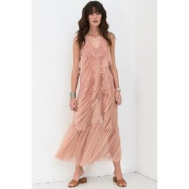 Spell and the Gypsy Collective Luna Mesh Gown Blush