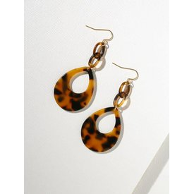 Vanessa Mooney Tortoise Shell Teardrop Earrings