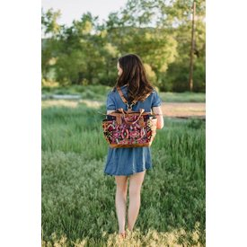 Maile and Nic Rose Huipil Embroidered Convertible Tote / Backpack