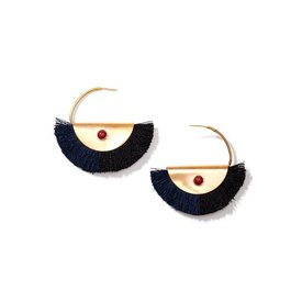 Nectar Nectar Crescent Silk Fringe Earrings