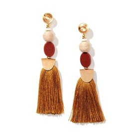 Nectar Nectar Warm Sunstone Tassel Earrings