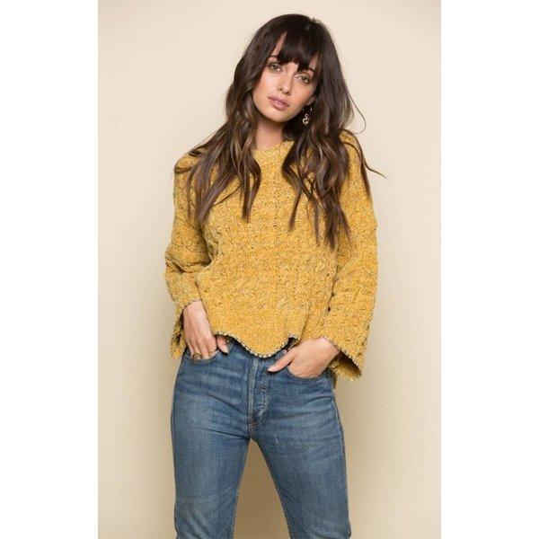 Raga LA Leona Pullover Sweater Mustard