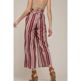 Moon River Moon River Wine Stripe Pants