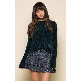 Raga LA Gretchen Pullover Sweater Emerald