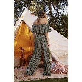 Sage the Label Josephine Jumpsuit Hunter Green