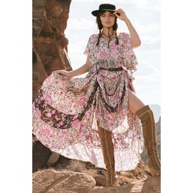 Spell and the Gypsy Collective Desert Daisy Maxi Skirt - Lilac