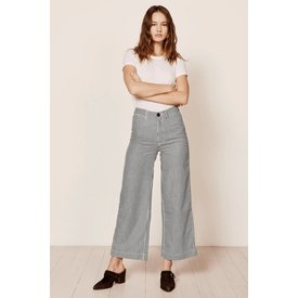 Rollas Old Mate Pant Navy Pinstripe
