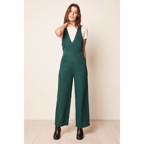Old Mate Linen Jumpsuit 90s Green