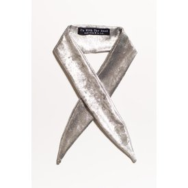I'm With the Band Metallic Silver Scarf Tie
