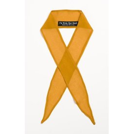 I'm With the Band Mustard Chiffon Scarf Tie
