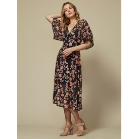 Goldie Jasmina Navy Floral Dress