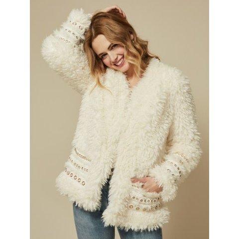 Ariana Ivory Shearling Jacket