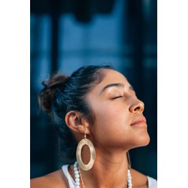Often Wander Often Wander Mod Hoop Earrings