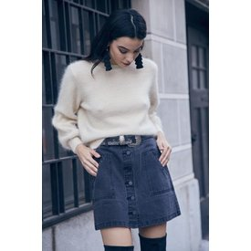 Sage the Label Biscous Jean Mini Skirt Black