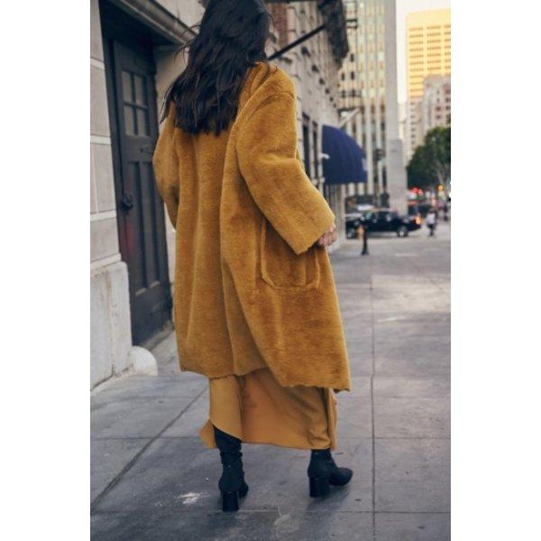 Sage the Label Highline Jacket Mustard Faux Fur