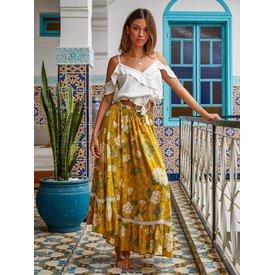 kivari Kivari Bloom Maxi Skirt Saffron
