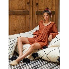 kivari Kivari Sierra Rust Babydoll Dress