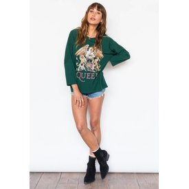 Daydreamer Queen Crest Tee Emerald