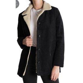 Rollas Cord Sherpa Coat Black