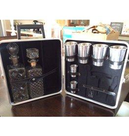 """Black """"The Portable Pub"""" Travel Bar Kit"""