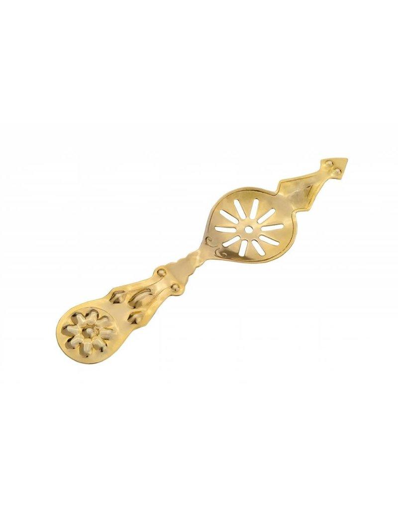 Absinthe Spoon- Gold Flower