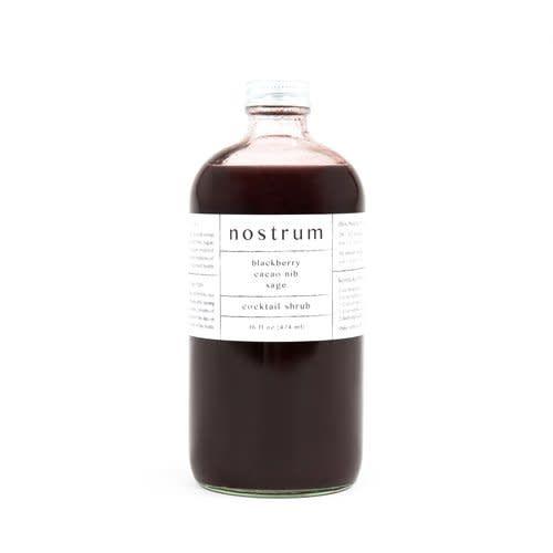 nostrum- Blackberry, Cacao Nib, Sage Shrub (16oz)