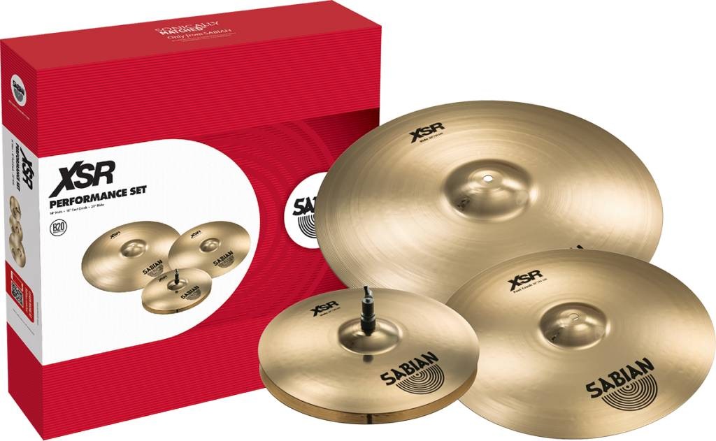 "Sabian Sabian XSR Performance Set w/ Free 18"" Crash"