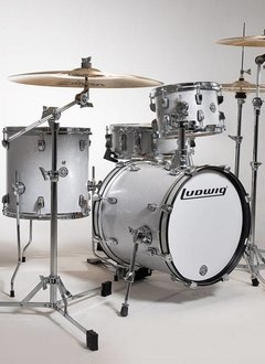 Ludwig Ludwig Breakbeats By Questlove Shell Pack - White Sparkle